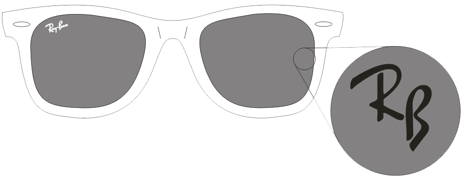 ray ban logo png  genuine ray ban lens markings